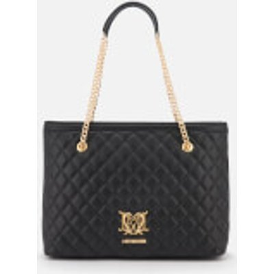Love Moschino Women s Quilted Shoulder Bag   Black - 805053768406