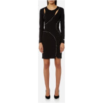 Versace Jeans Women s Fitted Studded Dress   Black   EU 42 UK 10   Black - 8057006505277