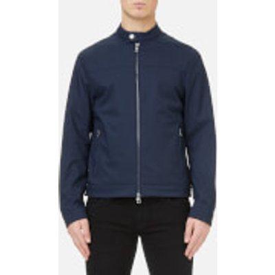 Michael Kors Men s Stretch Nylon Moto Jacket   Midnight   XXL   Blue - 191214834588