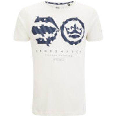Crosshatch Men's Unsteady T-Shirt - Vaporous Grey - XL - White