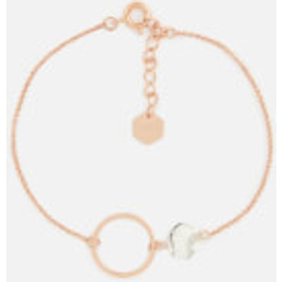 Cluse Women s Idylle Marble Hexagon Chain Bracelet   Rose Gold - 8718924597934