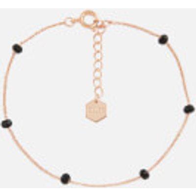 Cluse Women s Essentielle Black Crystals Chain Bracelet   Rose Gold - 8718924597989