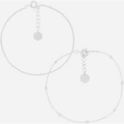 Cluse Women s Essentielle Set of Two Fine Bracelets   Silver - 8718924597675