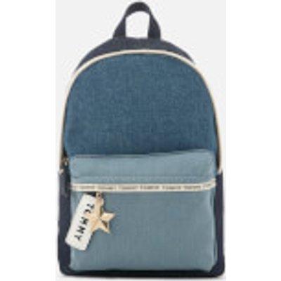 Tommy Hilfiger Women s Logo Tape Mini Backpack   Denim - 8719257313406
