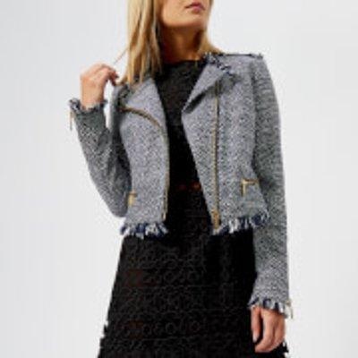 MICHAEL MICHAEL KORS Women s Tweed Jacket   True Navy   US 8 UK 12   Blue - 191935814180