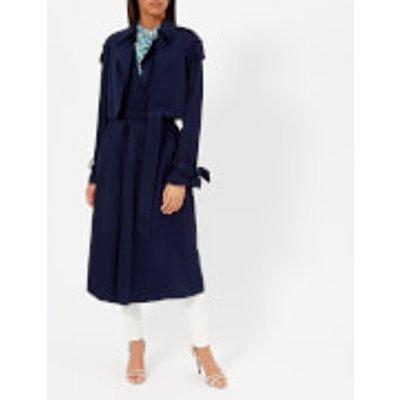 MICHAEL MICHAEL KORS Women s Drapey Trench Coat   True Navy   L   Blue - 191935817488