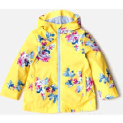 Joules Girls' Raindance Waterproof Coat - Yellow Margate Floral - 6 Years - Yellow