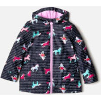Joules Girls' Raindance Waterproof Coat - French Navy Sea Pony - 6 Years - Navy
