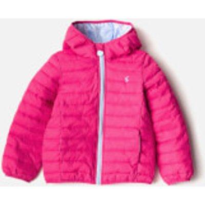 Joules Girls' Kinnaird Packaway Coat - Bright Pink - 6 Years - Pink