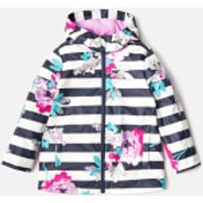 Joules Girls' Raindance Waterproof Coat - Margate Floral - 7-8 Years - Multi