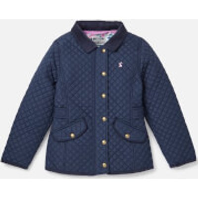 Joules Girls' Newdale Quilted Coat - French Navy - 9-10 Years - Navy