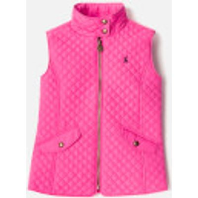 Joules Girls' Silvan Quilted Gilet - Bright Pink - 9-10 Years - Pink