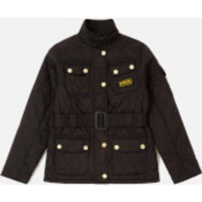 Barbour Girl's Flyweight International Jacket - Black/Pale Pink - 8-9 years/M - Black