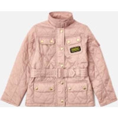 Barbour Girl's Flyweight International Jacket - Pale Pink/Pearl - 6-7 years/S - Pink