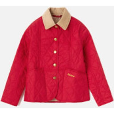 Barbour Girl's Summer Liddesdale Jacket - Raspberry Ripple/Mist - 8-9 years/M - Red