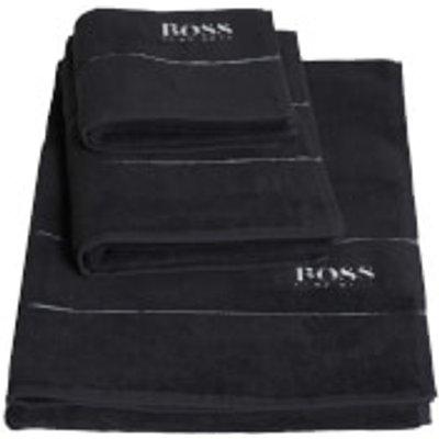 Hugo BOSS Plain Towels   Graphite   Bath Towel   Grey - 3596488824711