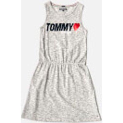 Tommy Hilfiger Girls' Preppy Knit Dress - Modern Grey Heather - 16 Years - Grey