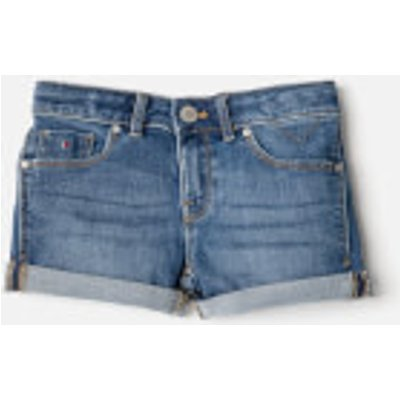 Tommy Hilfiger Girls' Nora Stretch Denim Shorts - Clifton Mid Blue - 16 Years - Blue