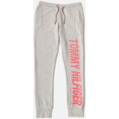 Tommy Hilfiger Girls' Ame Big Logo Sweatpants - Light Grey Heather - 16 Years - Grey