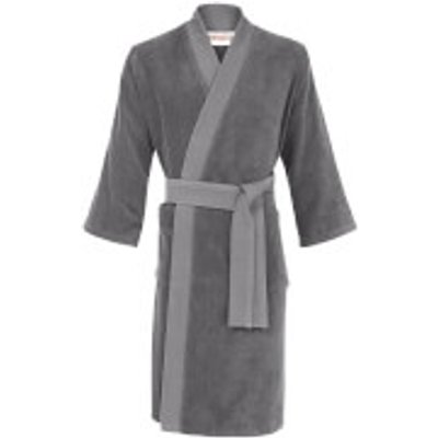 KENZO Iconic Bathrobe   Grey   Small - 3152208996276