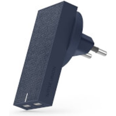 Native Union Smart Dual Port USB Fabric Charger - Marine, Blue