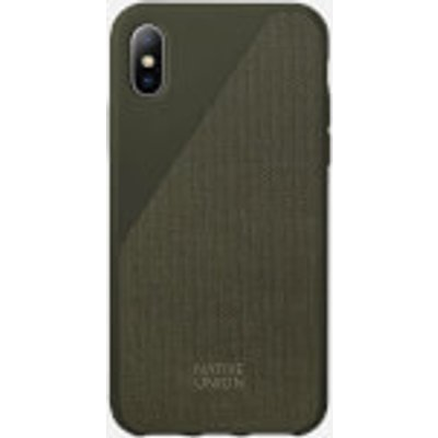 Native Union Clic Canvas - iPhone X Case - Olive