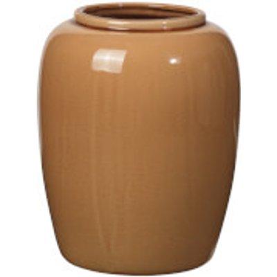 Broste Copenhagen Crackle Ceramic Vase - Indian Tan