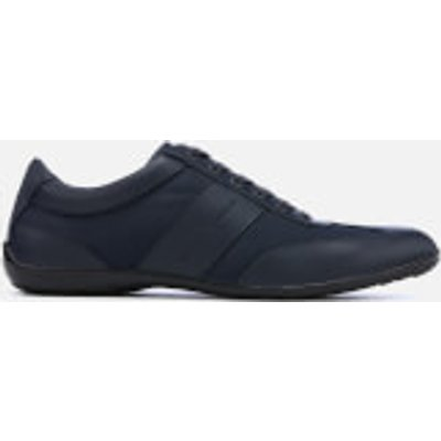 Emporio Armani Men's Zatch Leather Oxford Trainers - Night/Night - UK 11 - Blue