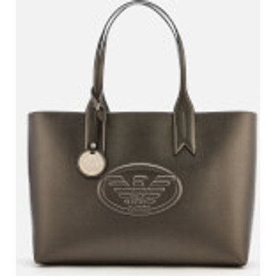 Emporio Armani Women's Freda Logo Eagle Tote Bag - Gun Metal