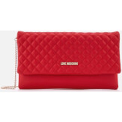 Love Moschino Women s Small Quilted Cross Body Bag   Red - 8054388423861