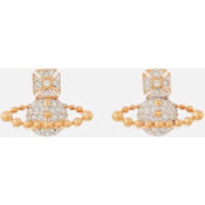 Vivienne Westwood Women's Lena Bas Relief Earrings - Rhodium/Gold