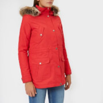 Barbour Women s Stronsay Jacket   Reef Red Navy   UK 10   Red - 190375915174
