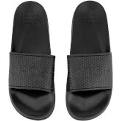 Crosshatch Men's Tulum Sliders - Black - UK 8 - Black