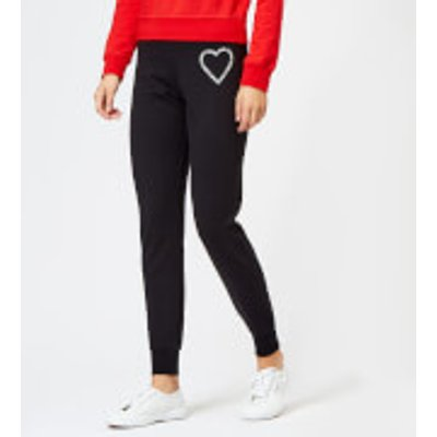 Love Moschino Women s Heart Logo Joggers   Black   IT 44 UK 12   Black - 8050326230683