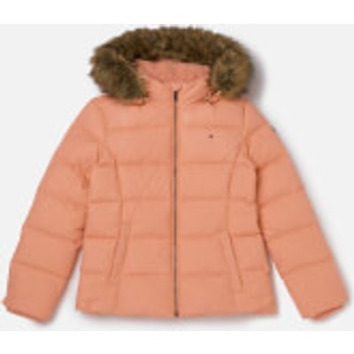 Tommy Hilfiger Girl's Basic Down Jacket - Coral Almond - 10 Years - Pink