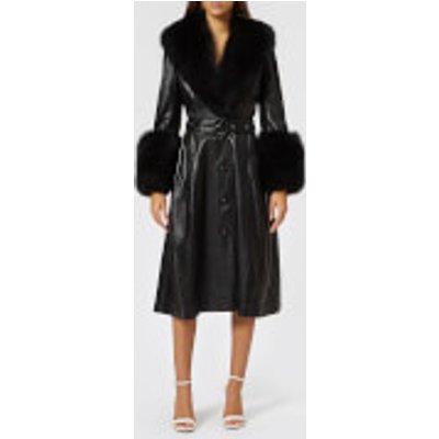 Saks Potts Women's Foxy Belted Leather Coat - Black - 2/UK 10 - Black