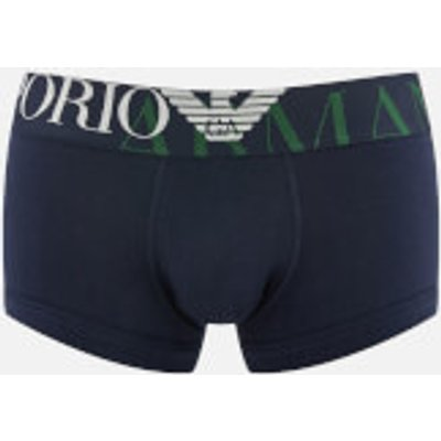 Emporio Armani Men s Single Pack Boxer Shorts   Blue   XL   Blue - 8054703892570