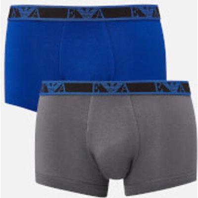 Emporio Armani Men s 3 Pack Boxers   Black Blue Grey   XL   Blue - 8054703891924