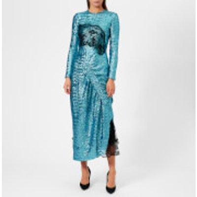 Preen By Thornton Bregazzi Women's Sequin Jersey Lace Dinah Dress - Teal - XS - Green