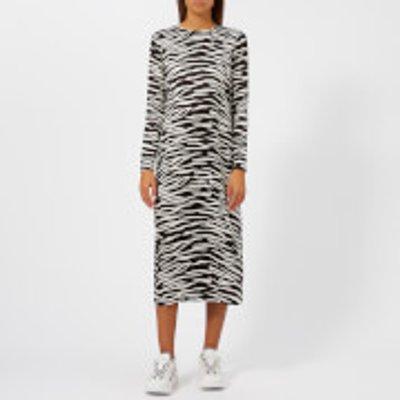 Ganni Women's Blakely Silk Dress - Ganache - EU 38/UK 10 - Multi