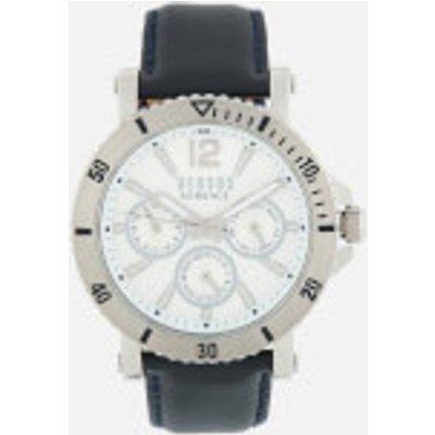 Versus Versace Men s Steenberg Leather Strap Watch   Navy Silver - 7630030526251