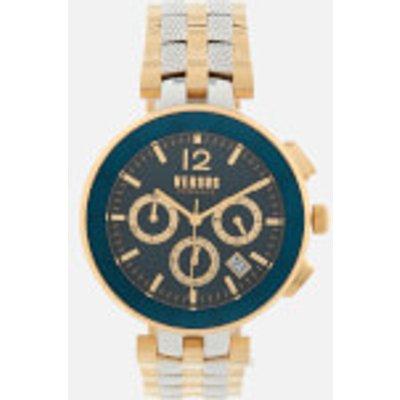 Versus Versace Men s Logo Stainless Steel Chronograph Watch   Gold Silver - 7630030529078