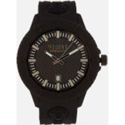 Versus Versace Men s Tokyo Silicone Lion Head Strap Watch   Black - 7630030529733