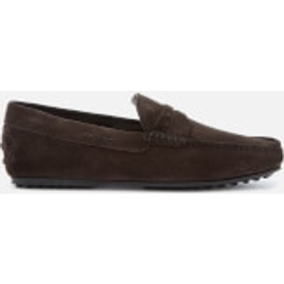 Tod's Men's Leather Driving Shoes - Brown - UK 8 - Brown