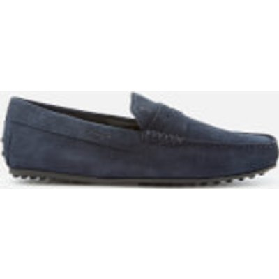 Tod's Men's Leather Driving Shoes - Navy - UK 9 - Navy
