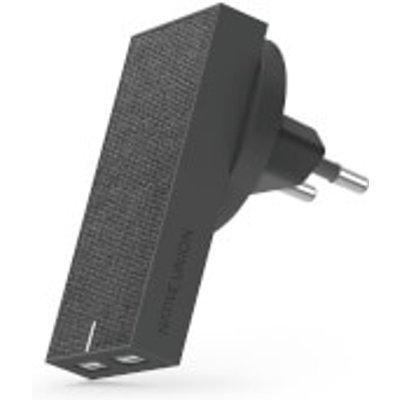 Native Union Smart Dual Port USB Fabric Charger - Slate, Grey