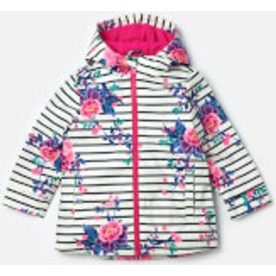 Joules Girls' Raindance Waterproof Coat - Chinoise Stripe - 4 Years - Multi