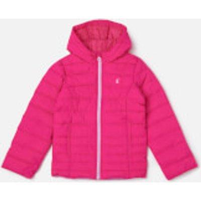 Joules Girls' Kinnaird Packaway Coat - True Pink - 7-8 Years - Pink