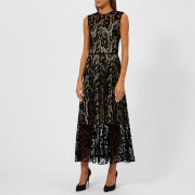 Christopher Kane Women's Flock Lace Dress - Black - IT 40/UK 8 - Black