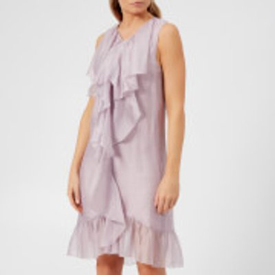 See By Chloé Women's Organza and Flounce Dress - Lavender Frost - FR 40/UK 12 - Purple